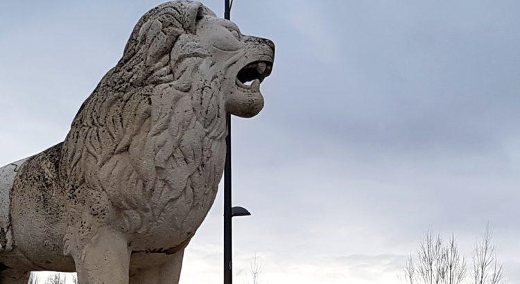 esculturas--de-leones-ciudad-leon