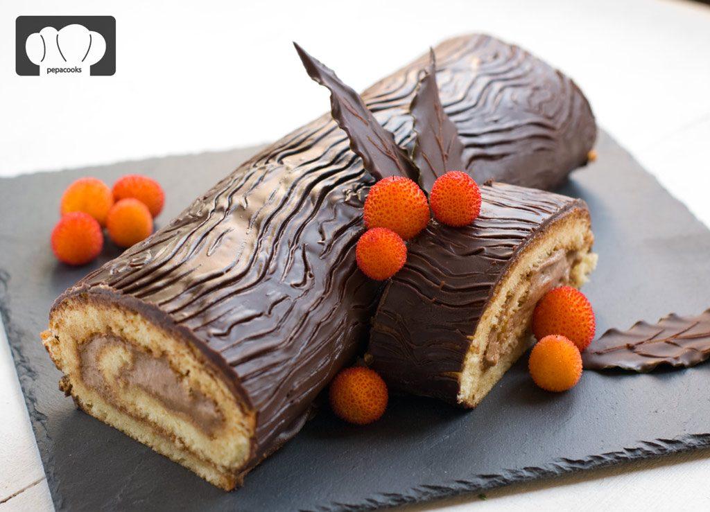 tronco-castañas-chocolate